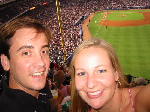 Brandon & I at the Braves Game